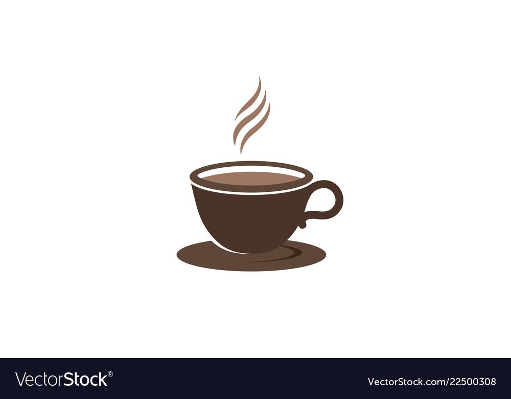 Creative brown coffee cup mug logo