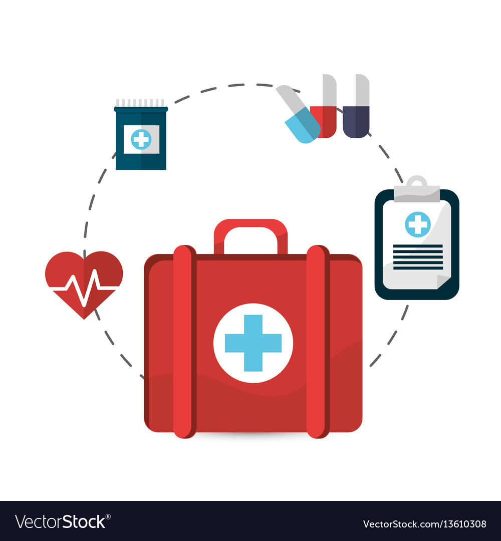 Hospital suitcase tools icon