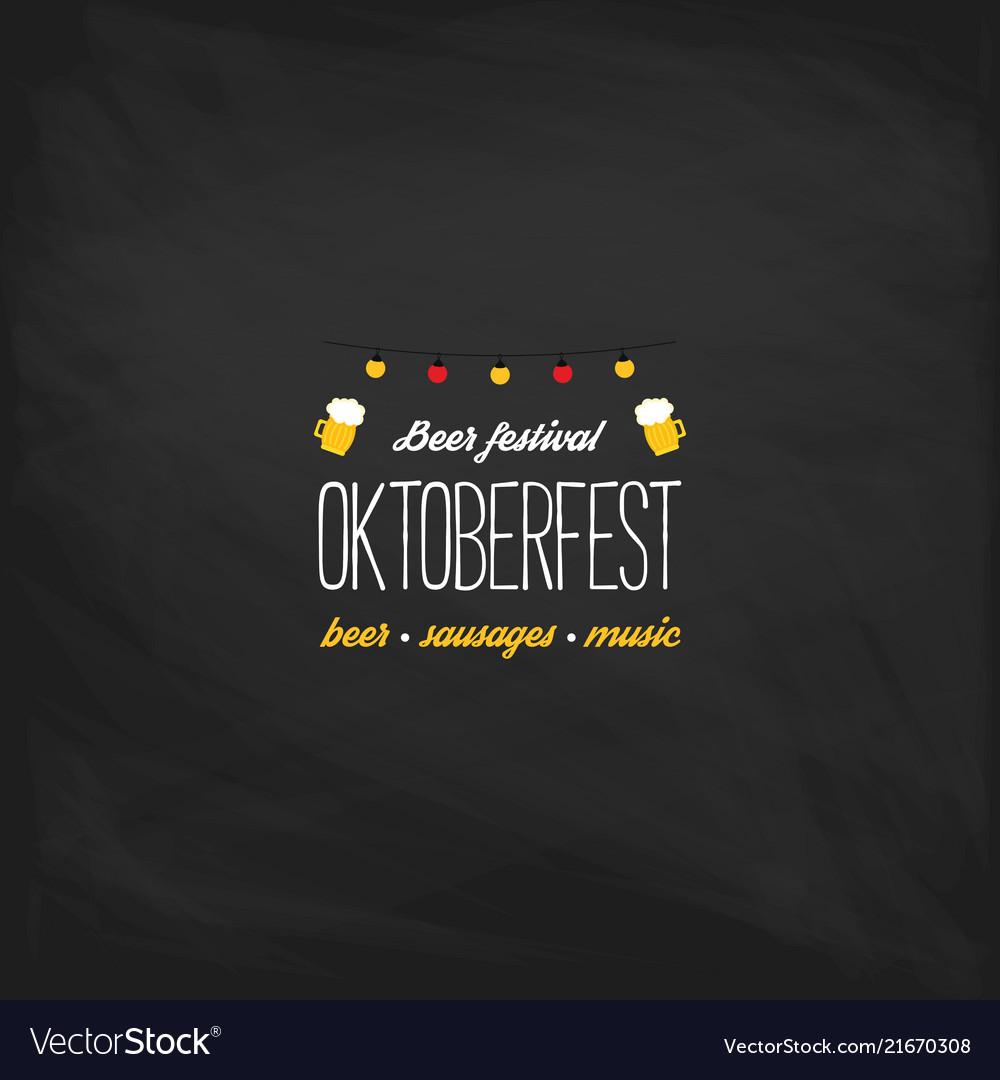 Oktoberfest vintage poster or greeting card on a
