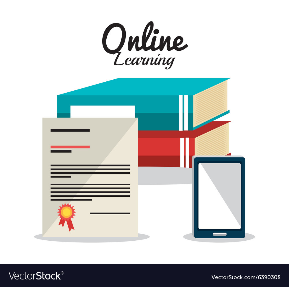 Online Learning Education Graphic Royalty Free Vector Image
