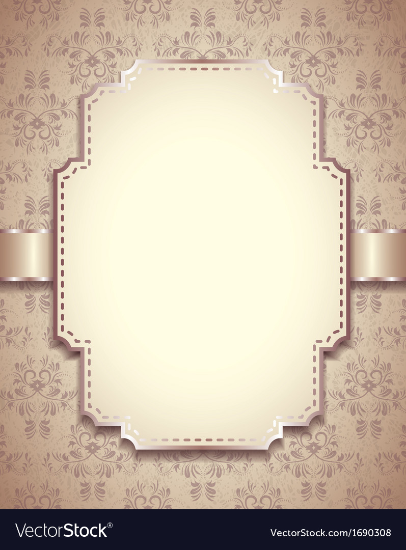 Retro frame vertical background Royalty Free Vector Image