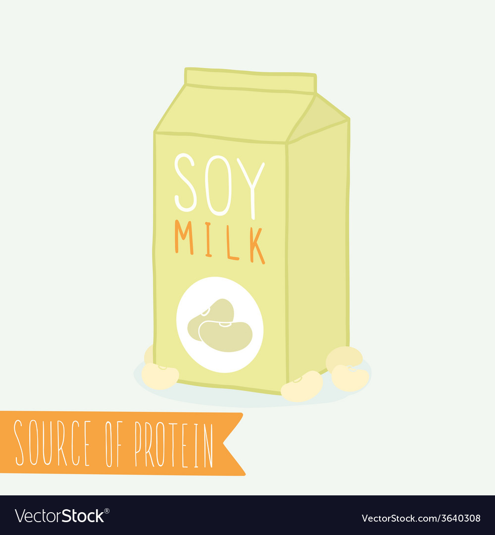 Soy milk in a carton pack