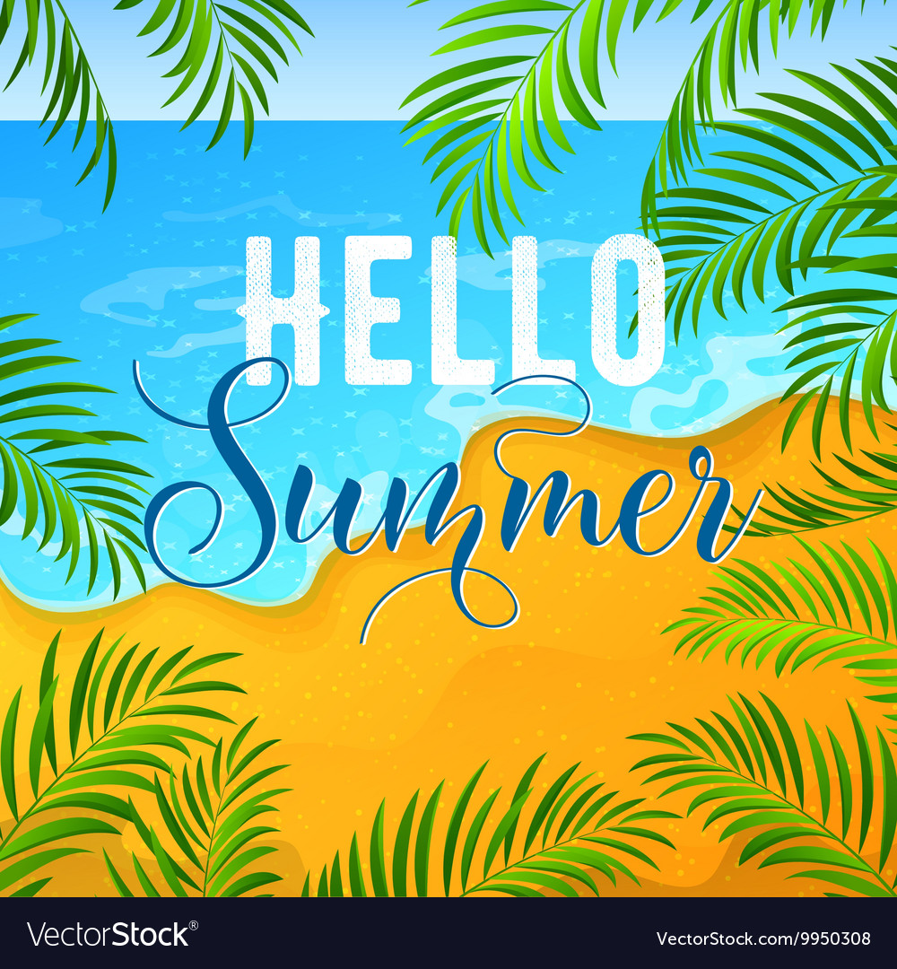 Summer holidays background with tropical seascape