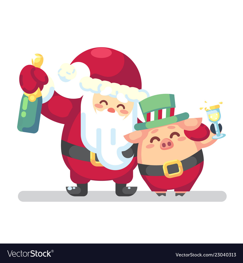 2019 new year merry christmas symbol santa claus