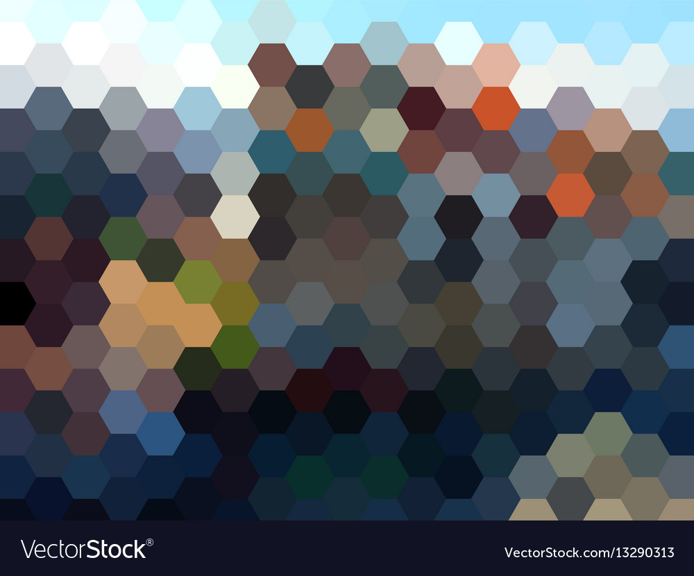 Abstract hexagon landscape background