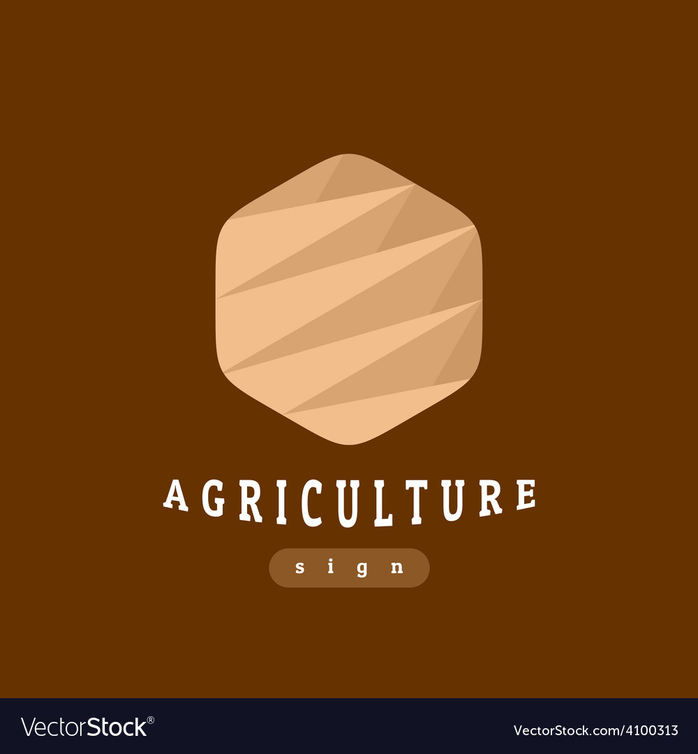 Agriculture sign abstract template