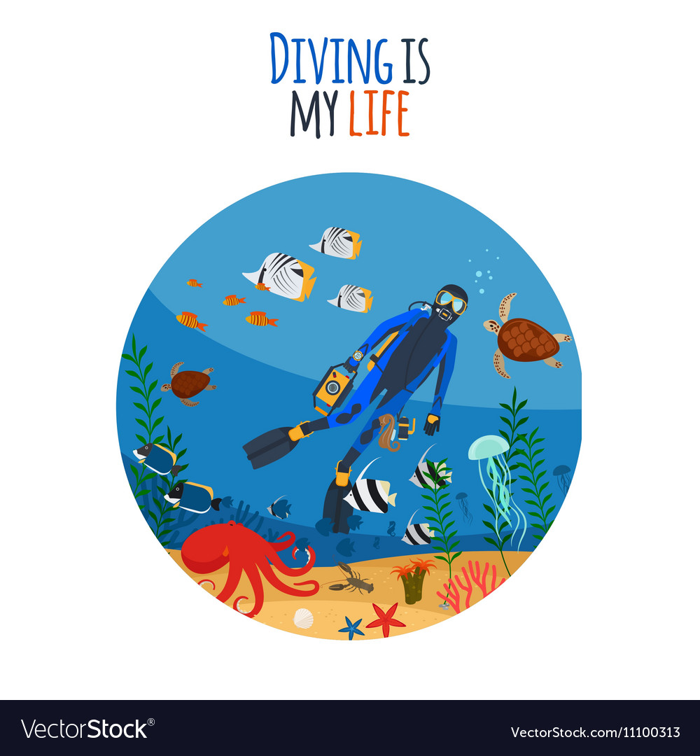 Diving is my life