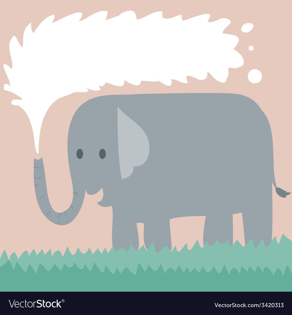 Elephant On Grass vector image