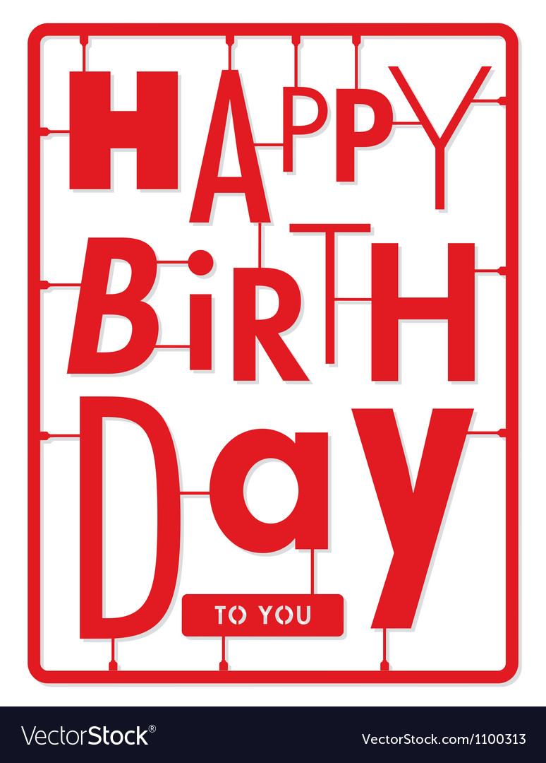 happy birthday card typography letters type font vector image rh vectorstock com vector letters online vector letters png