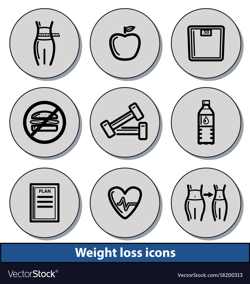 Light weight loss icons