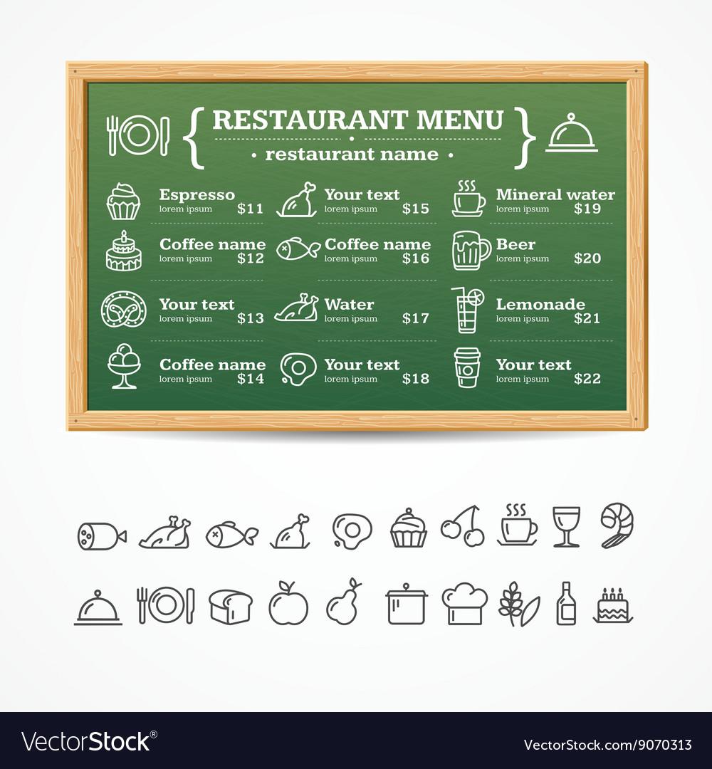 Menu Restaurant Board
