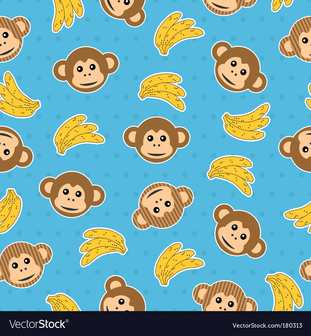 Monkey wallpaper pattern