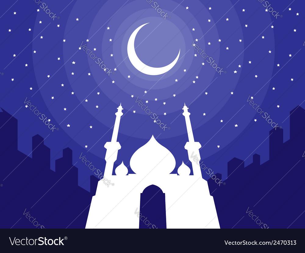 Ramadan Eid Mubarak Greeting 3 Royalty Free Vector Image