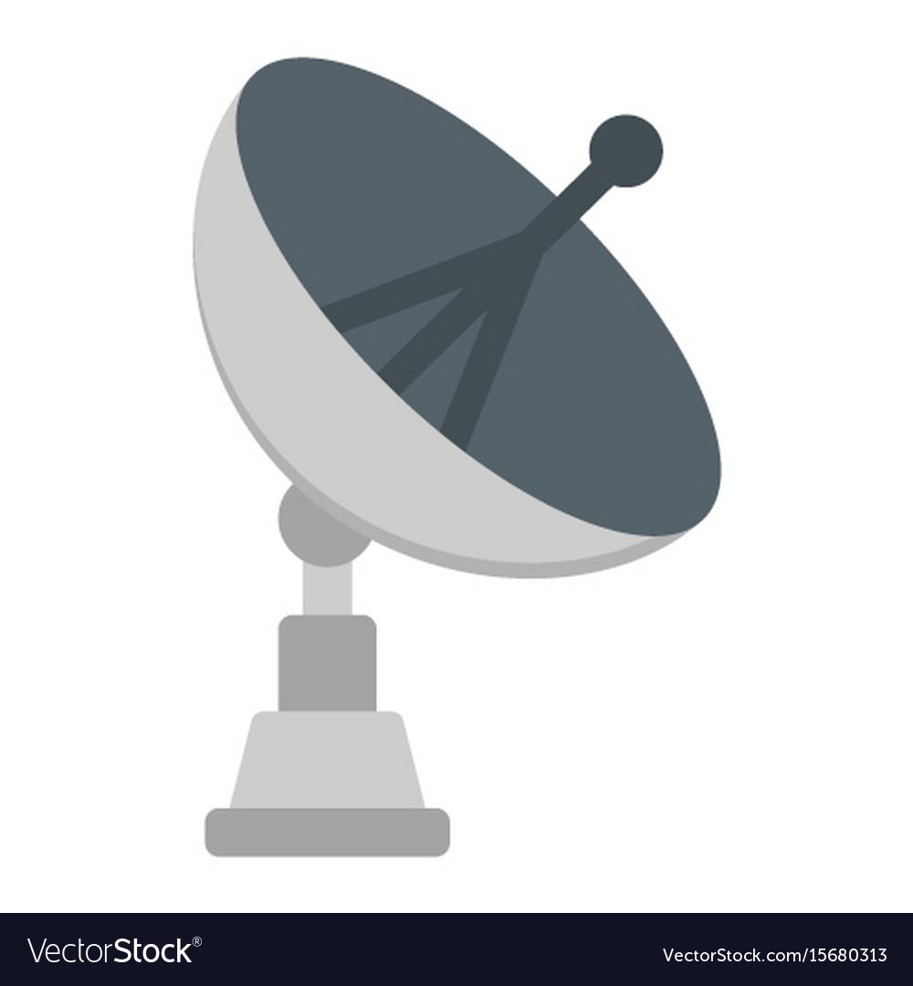 satellite dish flat icon antenna and radar vector image