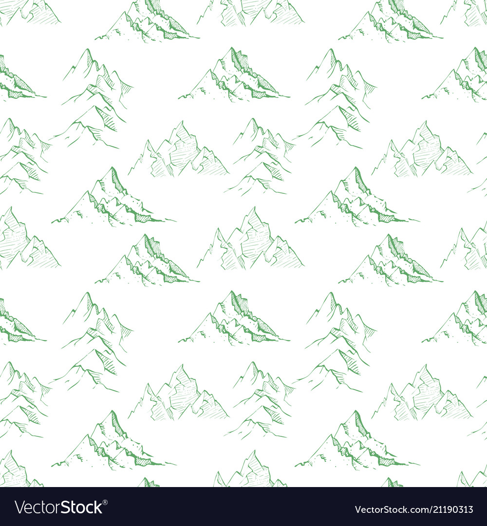 Seamless background with green doodle sketch