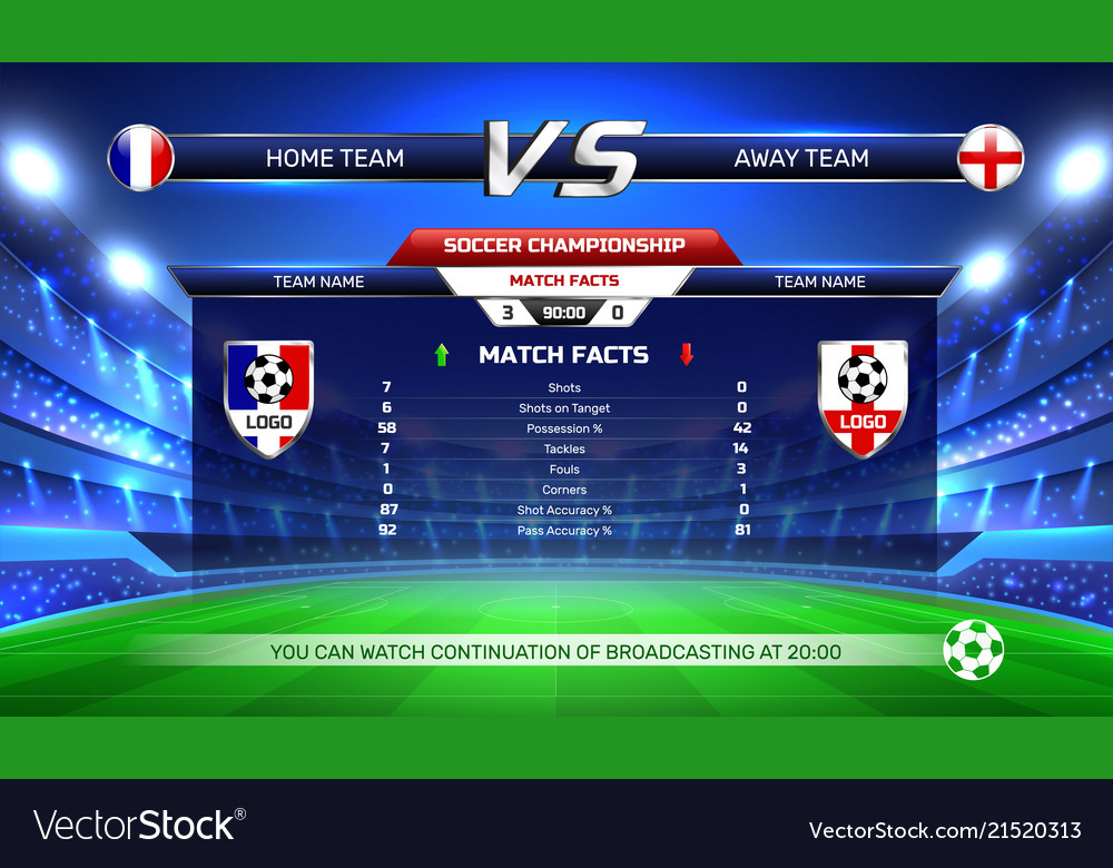 Soccer championship broadcast background