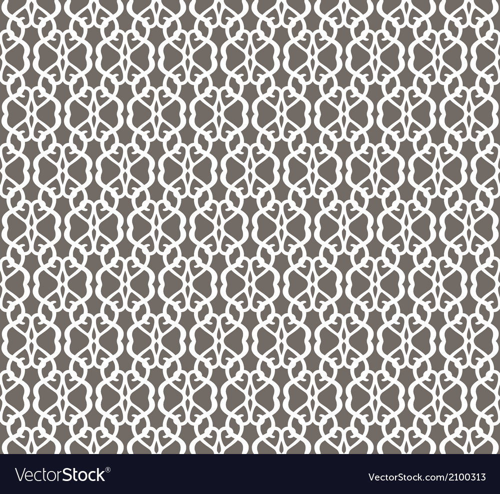 White Forged Seamless Pattern on grey background