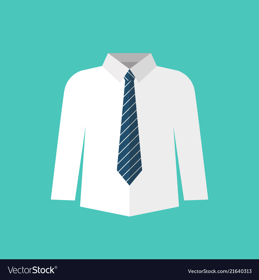 White shirt with necktie