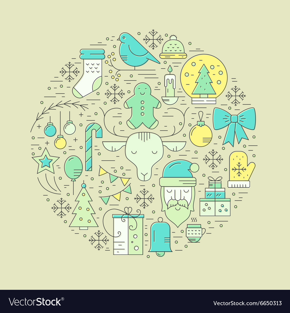 Winter Holidays concept vector image
