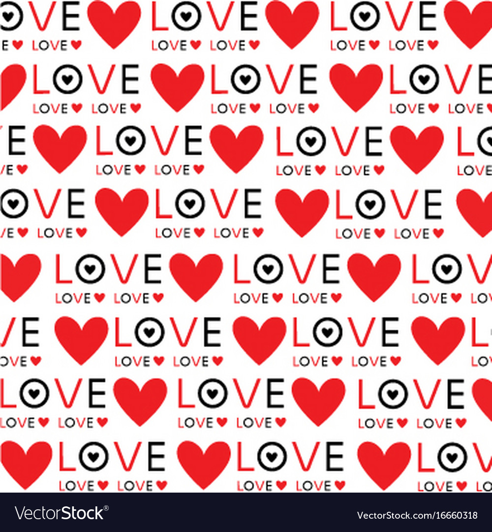 Background Wallpaper Love Heart Text Design Vector Image