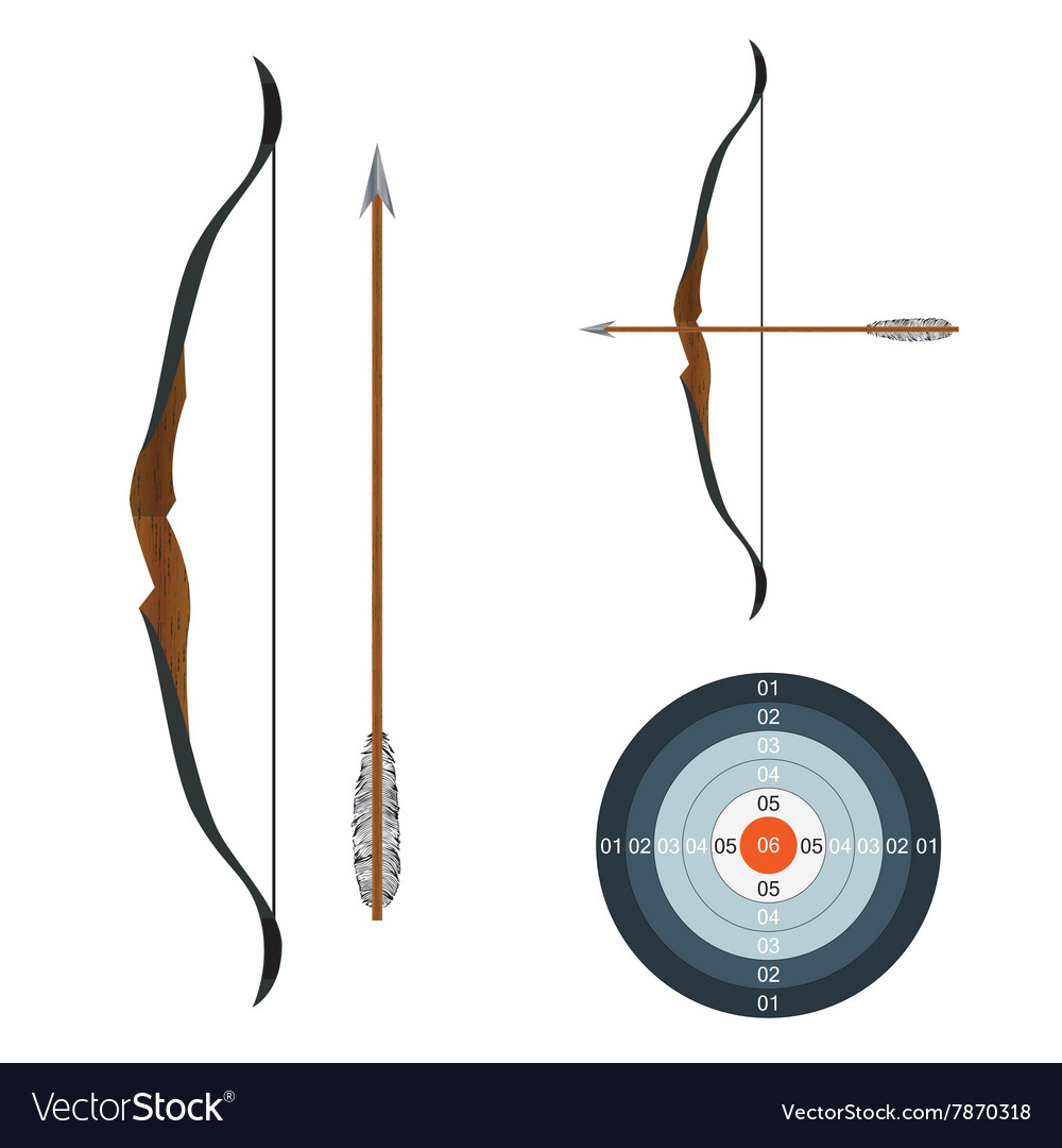 Bow arrow and target