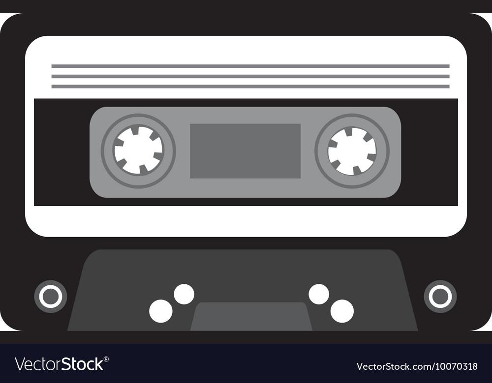 Cassette music retro icon