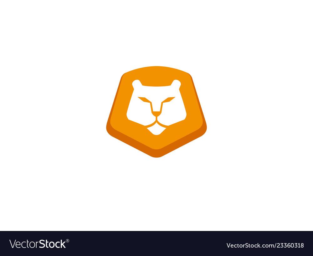 Lion logo yellow