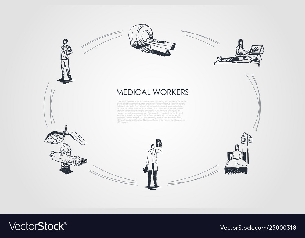 Medical workers - doctor and medical workers