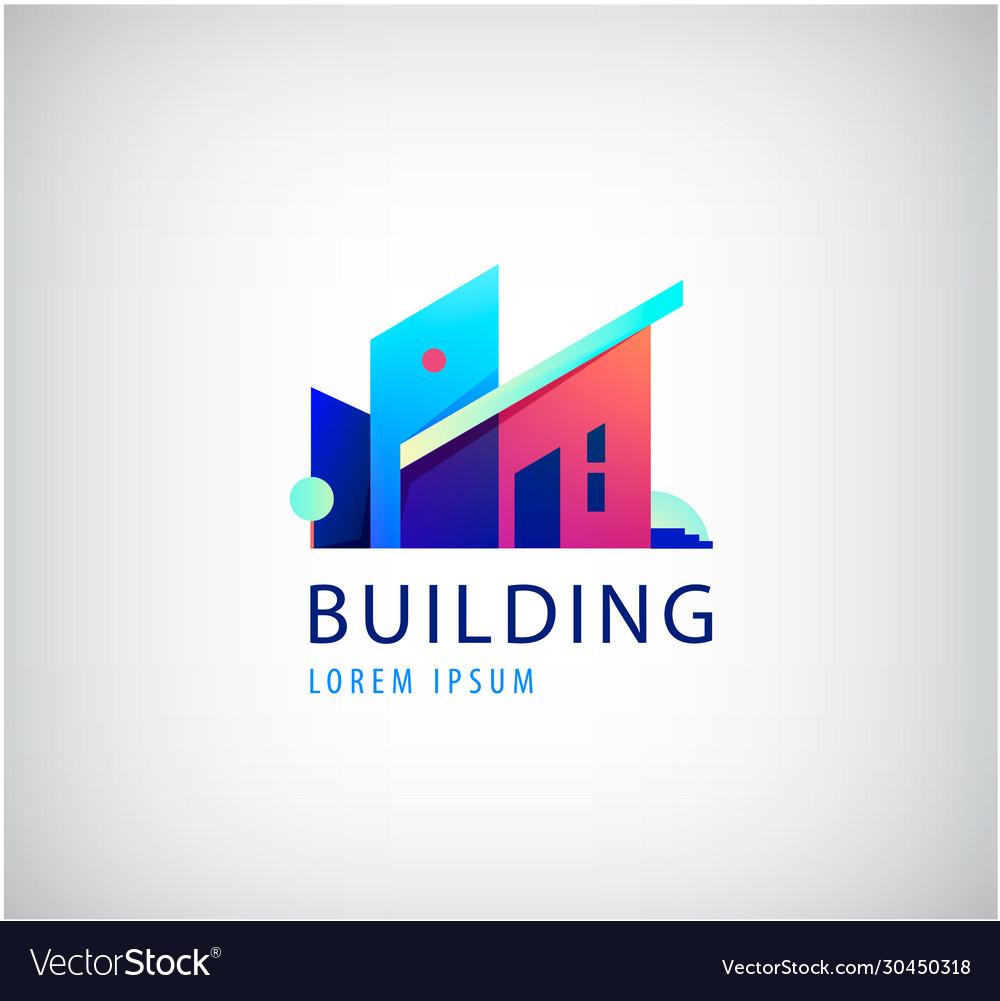 Multicolor real estate logo design