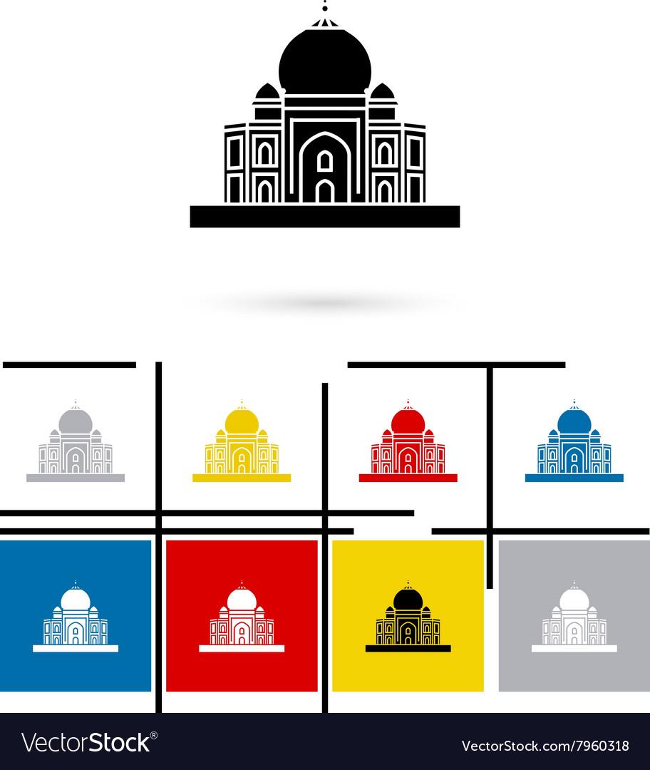 Taj Mahal in India icon