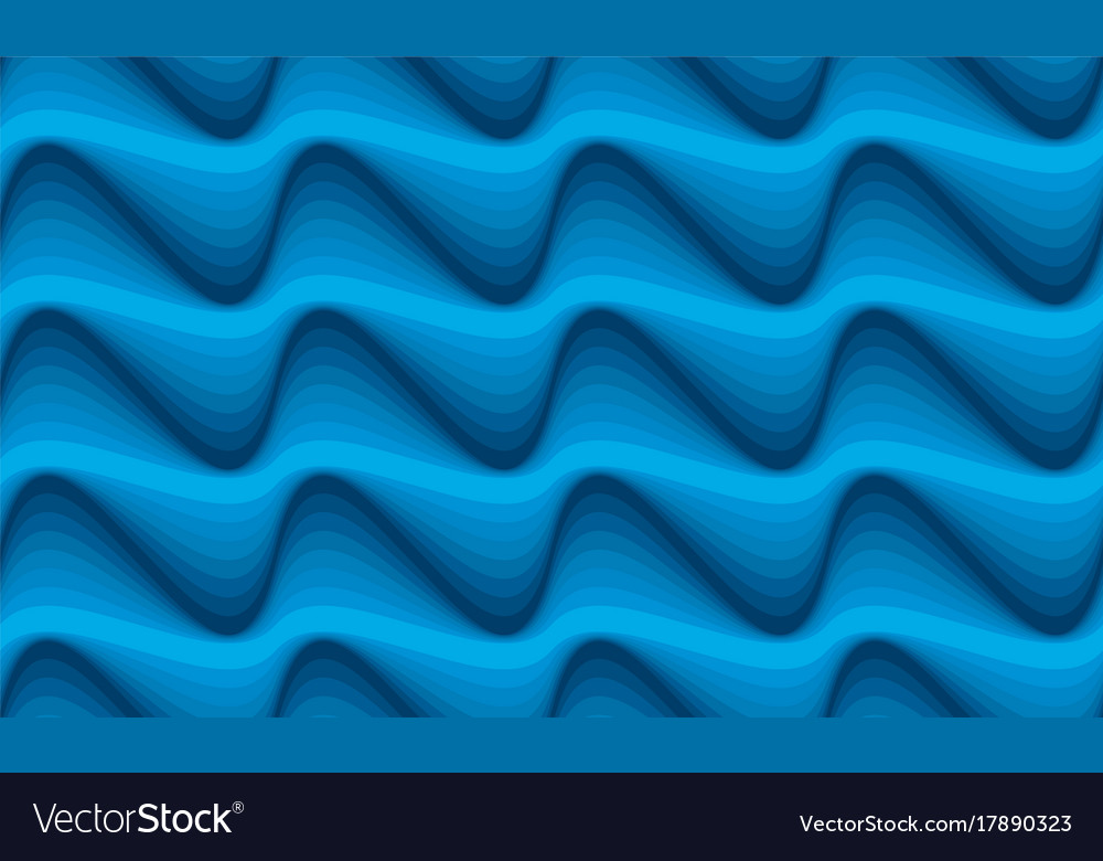 Abstract blue water wave seamless pattern