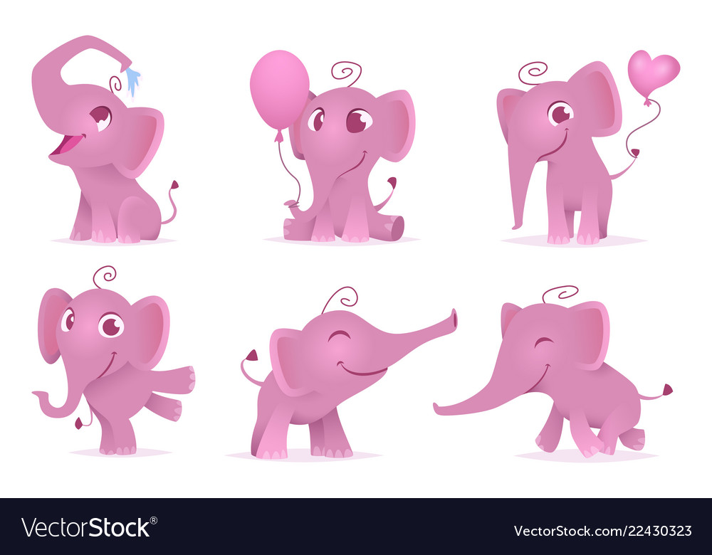 Adorable elephants cute and funny happy african
