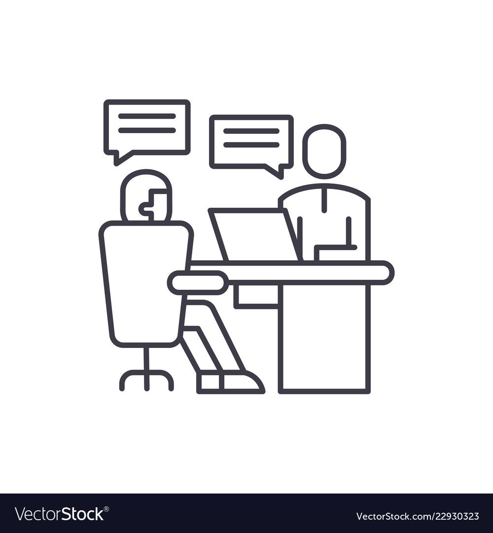 Analytics department line icon concept analytics