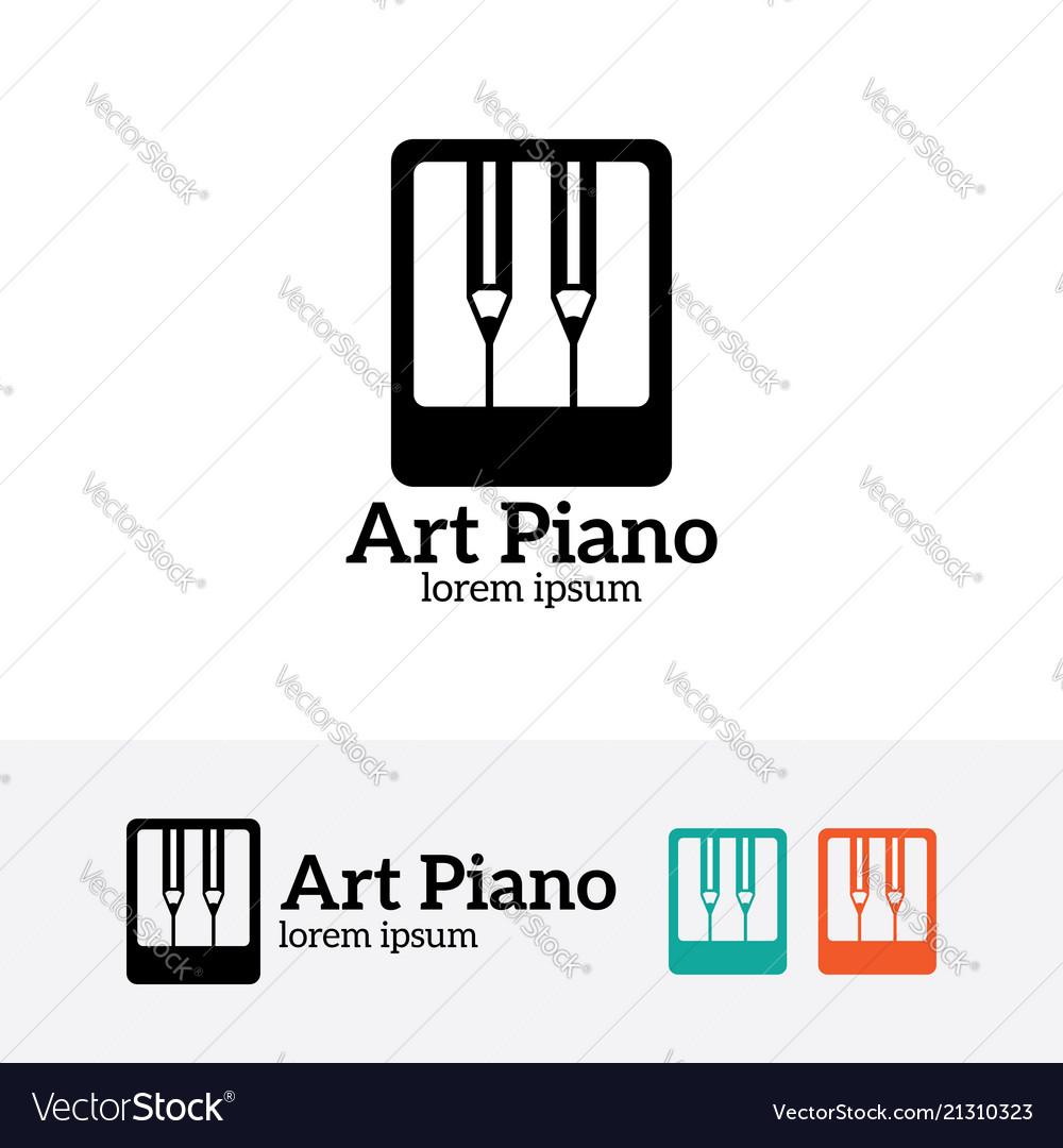 Art piano logo design