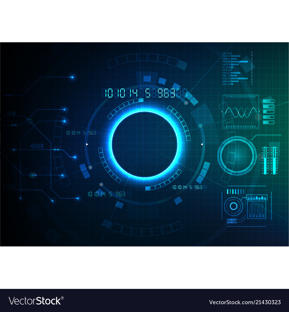 Blue green technology game background
