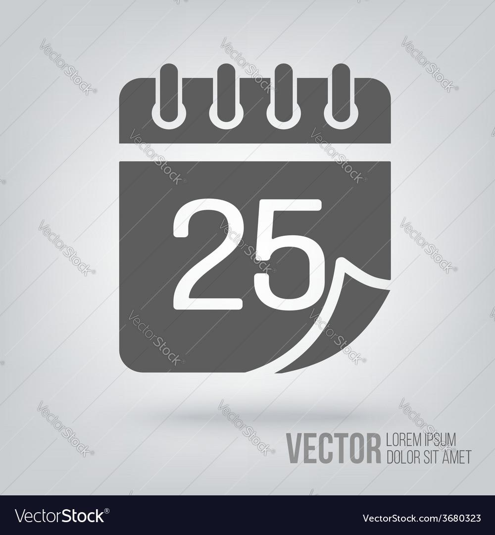 Calendar icon isolated black on white background