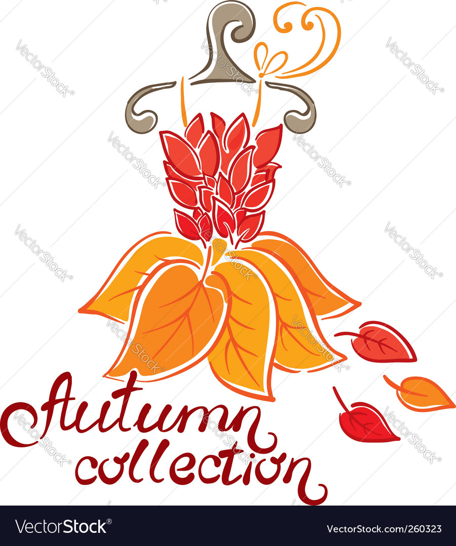 Dress fall collection vector image