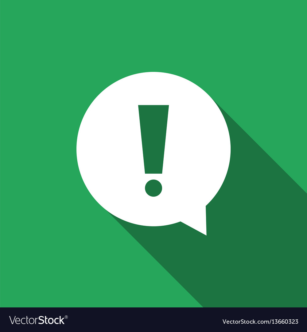 Exclamation Mark In Circle Hazard Warning Symbol Vector Image