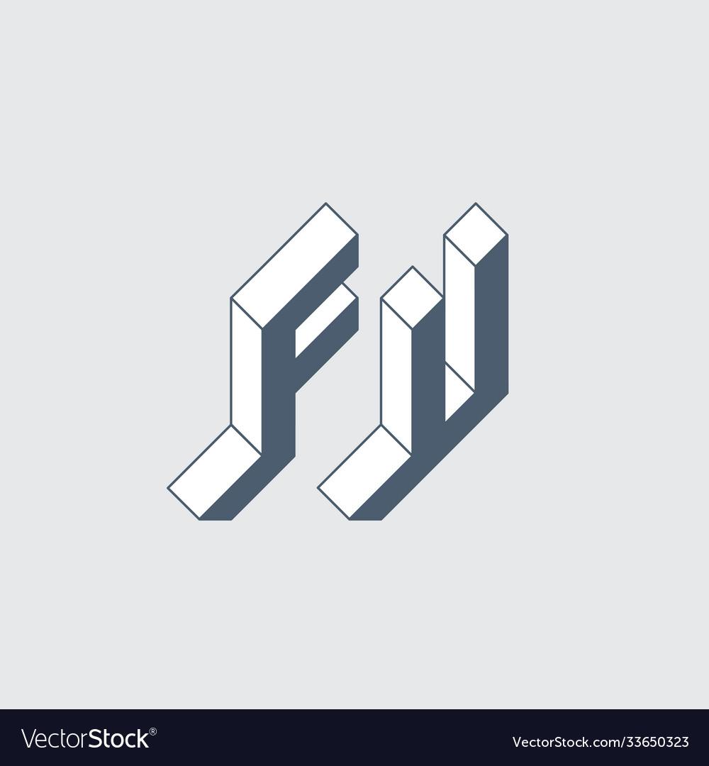 F and u - monogram or logotype fu - 2-letter code
