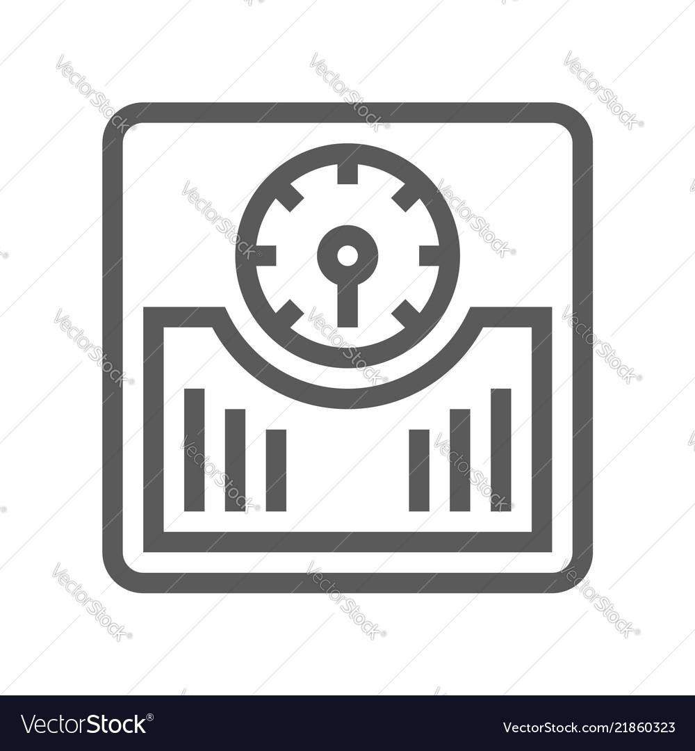 Floor scales line icon