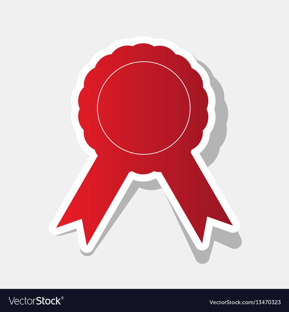 Label sign ribbons new year reddish icon