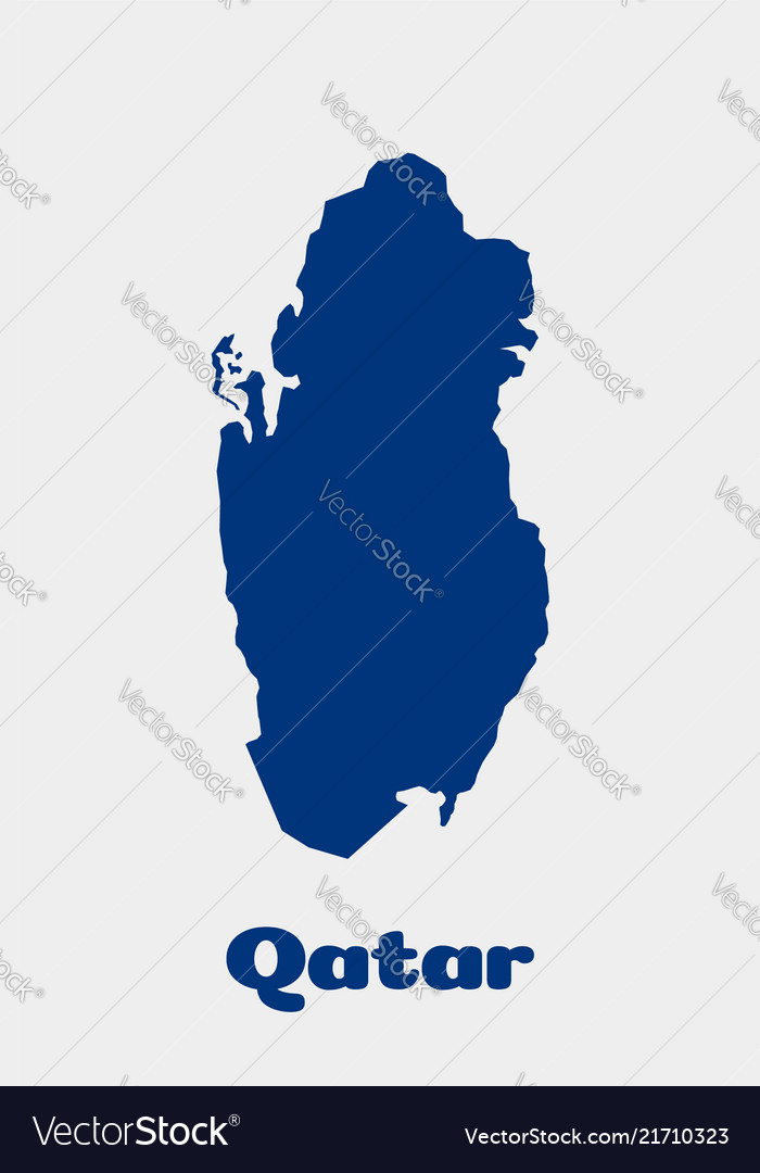 Qatar country map concept for political economic Vector Image on