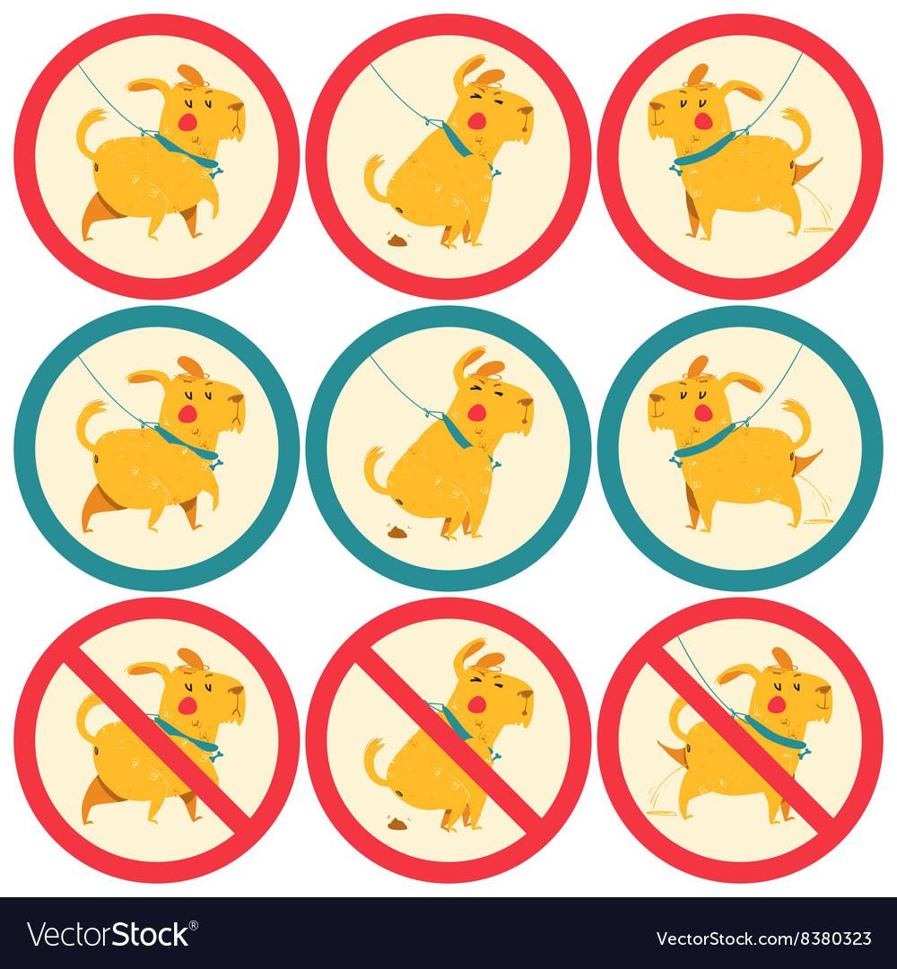 Signs dog walking