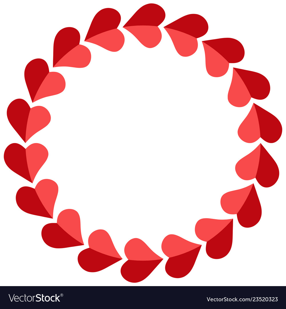 Valentine frame hearts round photo frame