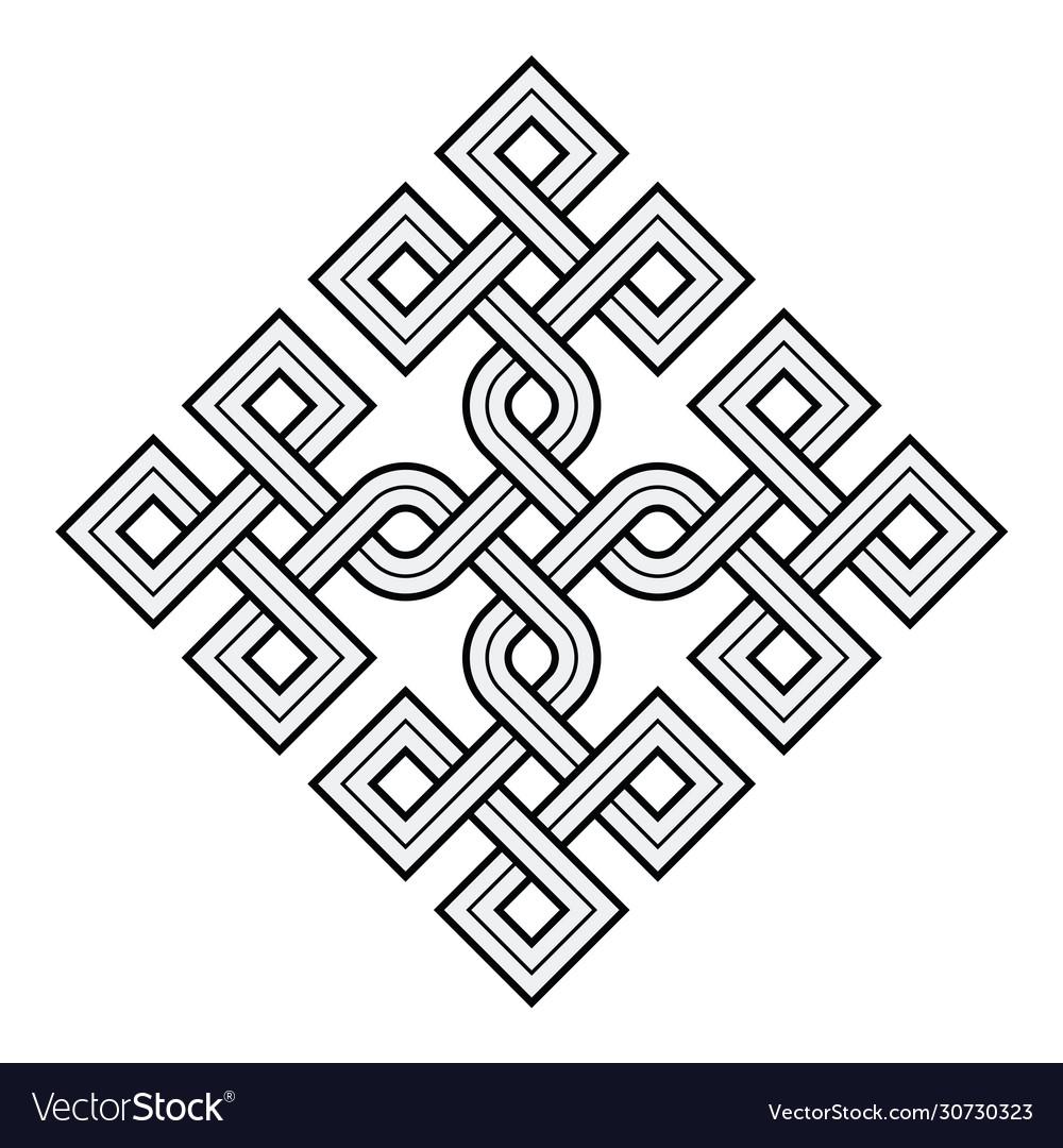 Viking decorative knot - rings square edges
