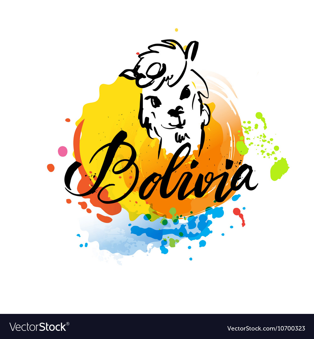 Welcome to Bolivia welcome card with