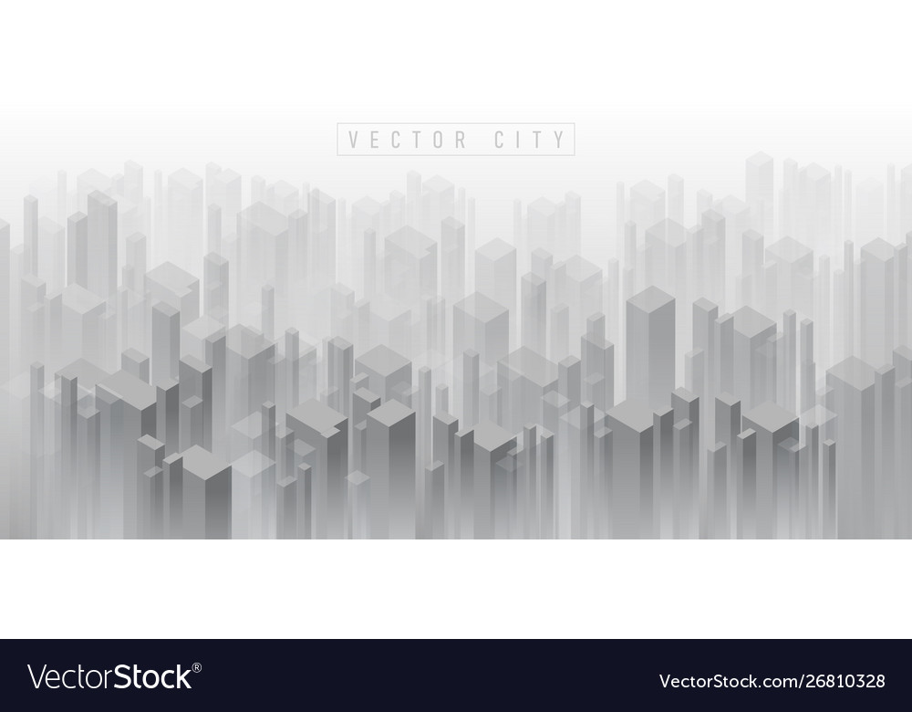 Abstract isometric 3d crowded city background of