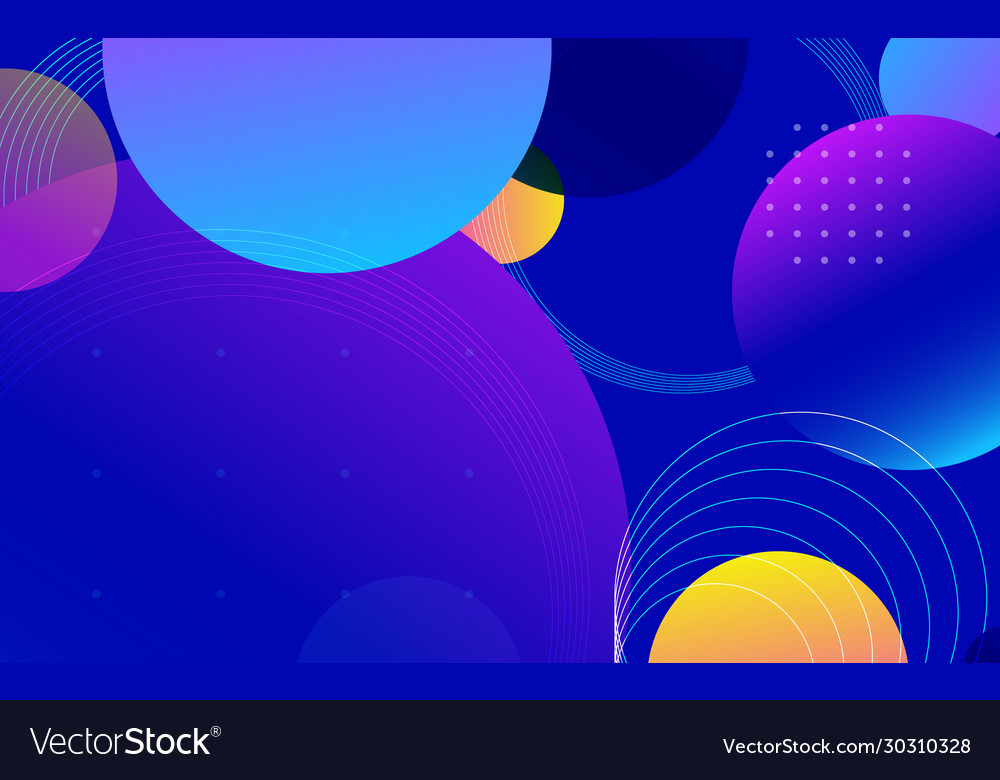 Abstract trendy gradient shapes composition