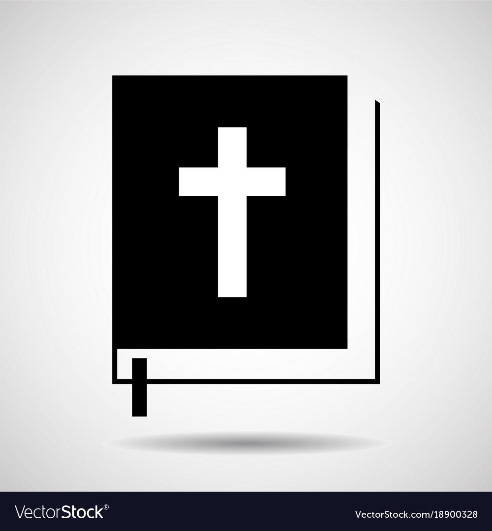 Bible icon isolated on white background religion