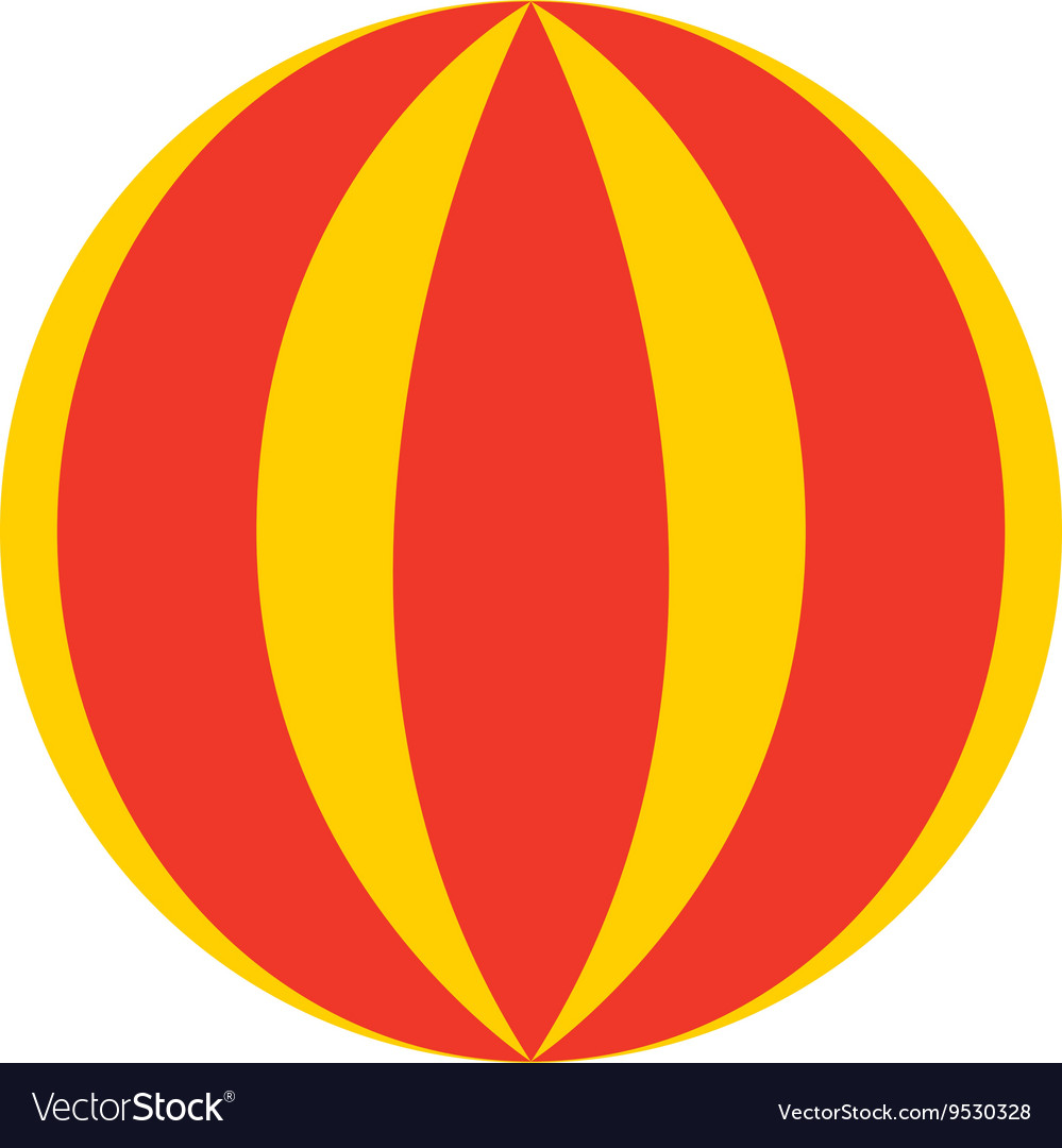 Circus ball isolated icon design